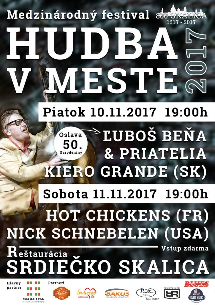 Hudobný festival Hudba v Meste 2017 Reštaurácia Srdiečko Skalica