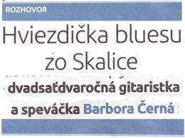 Rozhovor: Slovenská gitaristka a speváčka Barbora Černá zo Skalice hrá blues z Mississippi.