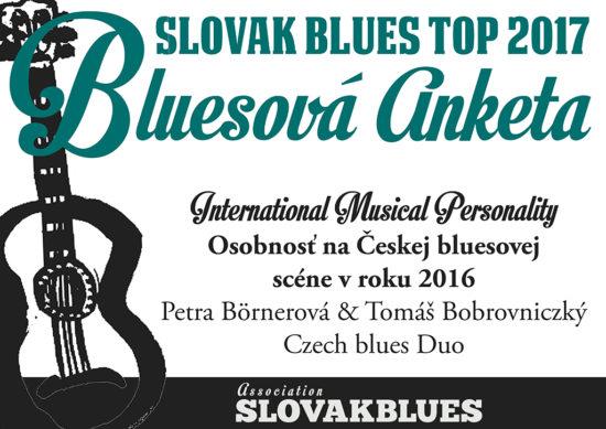 Osobnosť na Českej bluesovej scéne v roku 2016 Petra Börnerová & Tomáš Bobrovniczký (bluesové duo)