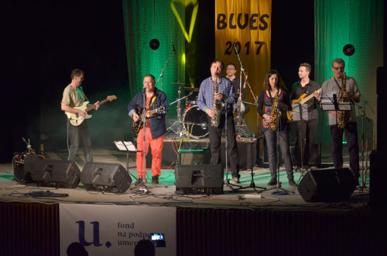 Skupina Bluesweiser na festivale Livin Blues v Bratislave