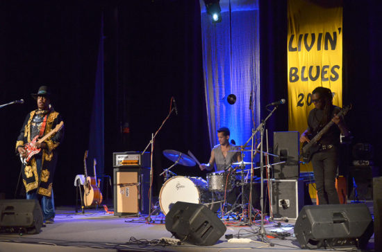 Americký spevák a gitarista Lord Bishop na festivale Livin Blues 2017 v Bratislave