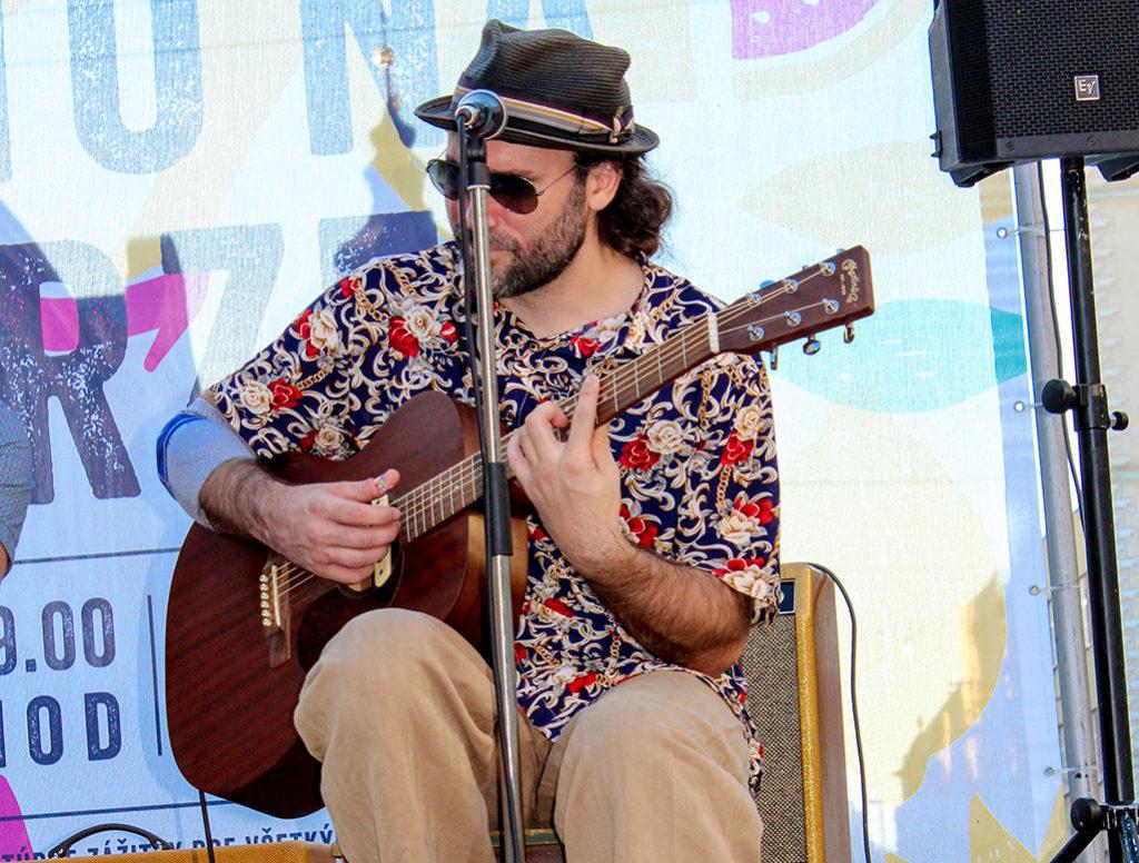 Bluesmani Edi Fenzl, Jörg Danielsen a Juraj Schweigert v Trnave na Leto na Korze