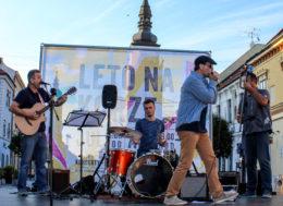 Bluesový koncert bluesový trnavskej kapely Second Band v rámci projektu Leto na korze 2017 v Trnave