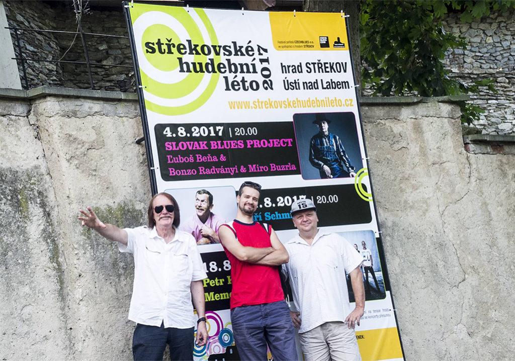 Ľuboš Beňa & Bonzo Radványi a Slovak Blues Project v Ústí nad Labem Střekovské hudební léto 2017 Hrad Střekov
