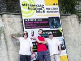 Slovak Blues Project v Ústí nad Labem Střekovské hudební léto 2017 Hrad Střekov