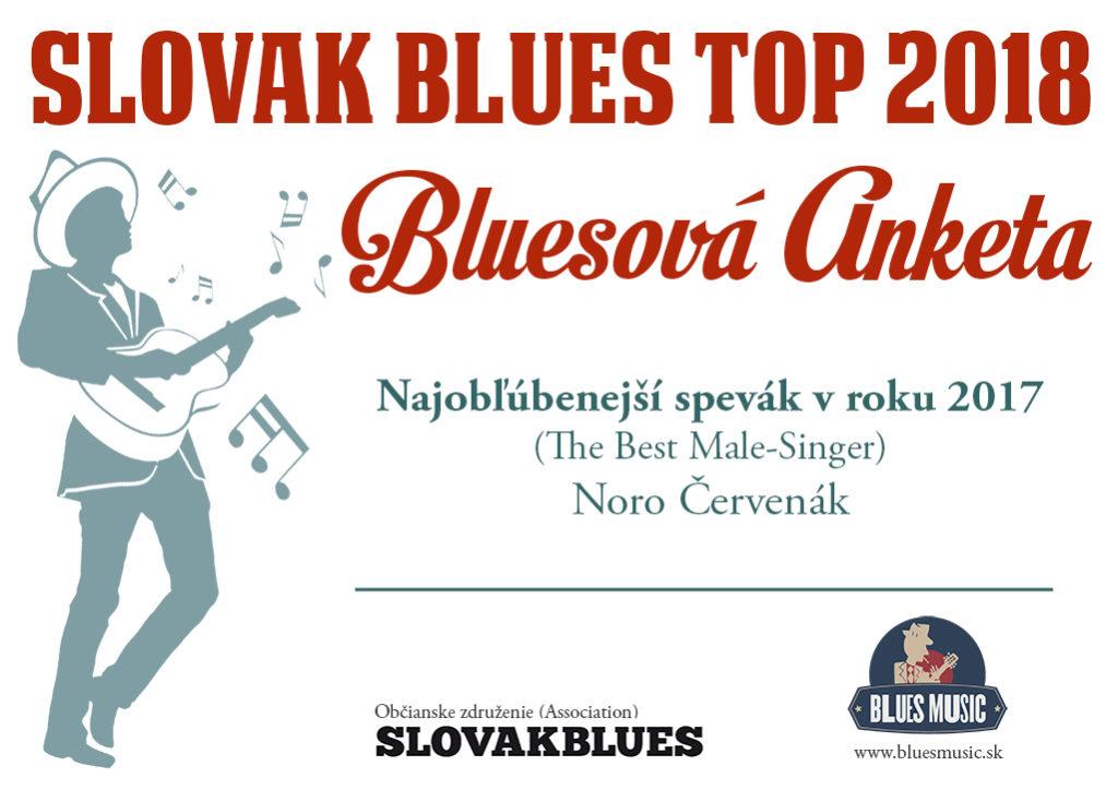 Najobľúbenejší spevák v roku 2017 Noro Červenák