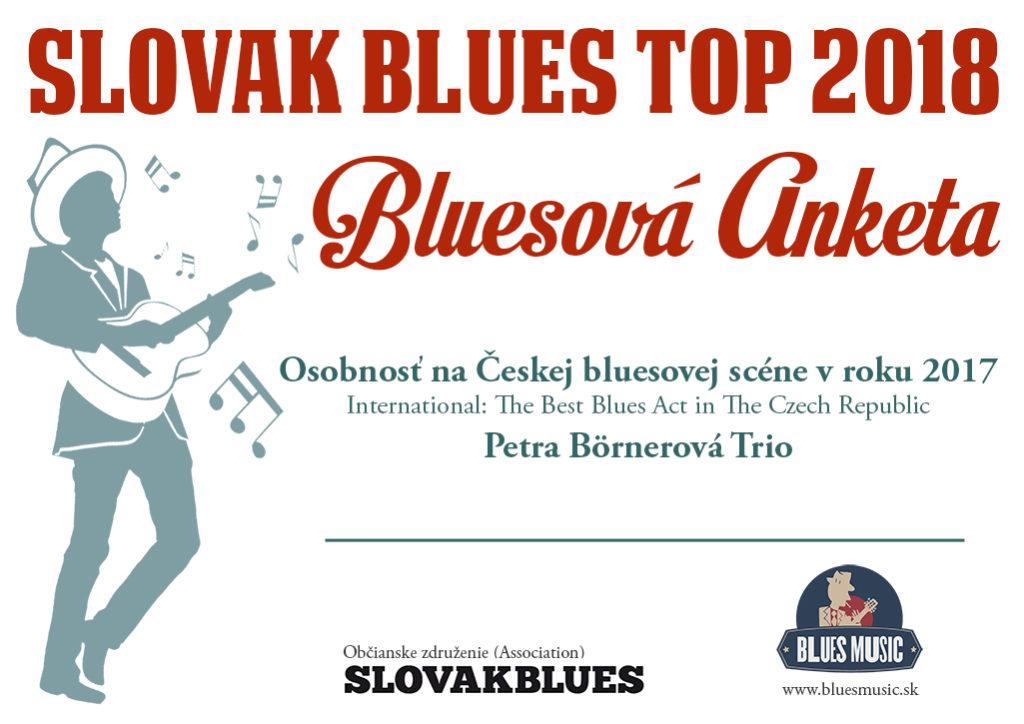 Osobnosť na Českej bluesovej scéne v roku 2017 Petra Börnerová Trio