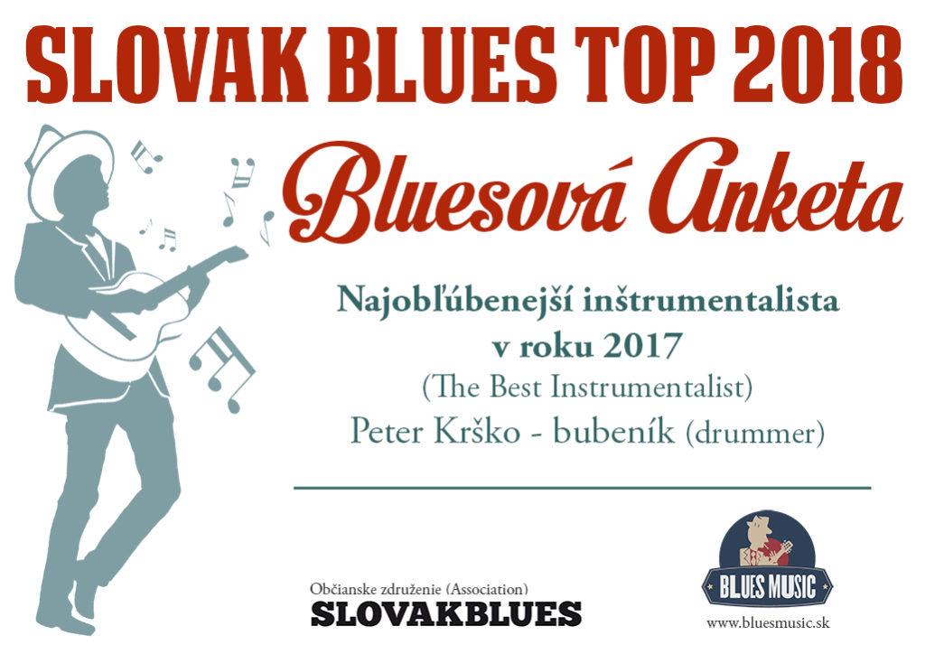 Najobľúbenejší inštrumentalista v roku 2017 Peter Krško - bubeník