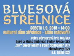 Medzinárodní festival Bluesová Střelnice 2018 se uskuteční na nádvoří Kulturního domu Střelnice ve městě Kadaň