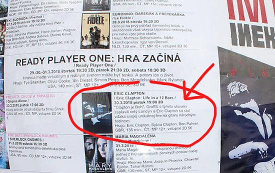 V kinách sa premieta dokumentárny hudobný film Eric Clapton: Life in 12 Bars