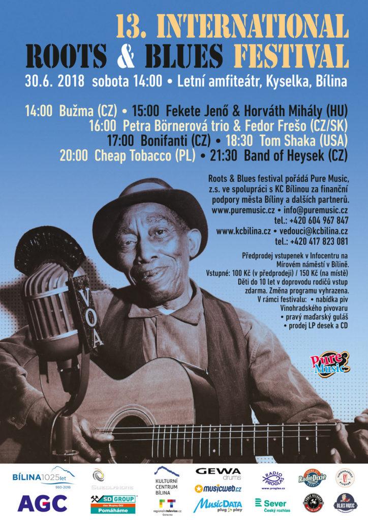 13. ročník festivalu Roots & Blues Festival 2018 se uskuteční v Bíline