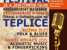 13. ročník festivalu Roots & Blues Festival 2018 se uskuteční v Teplicích