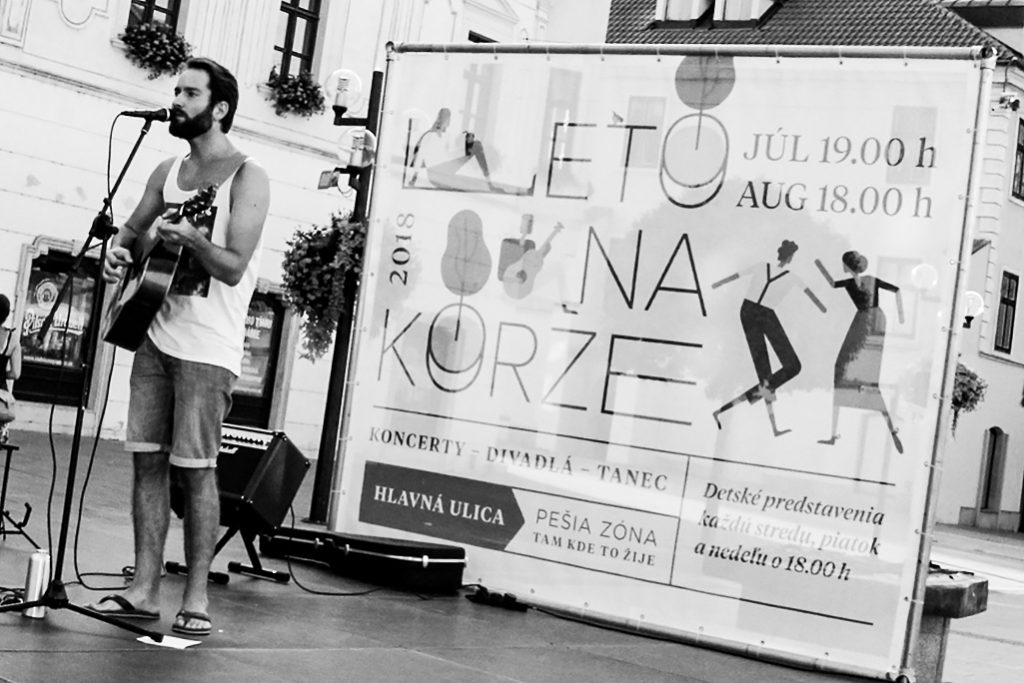 Koncert Leto na korze 2018 Ado Juráček na trnavskom korze