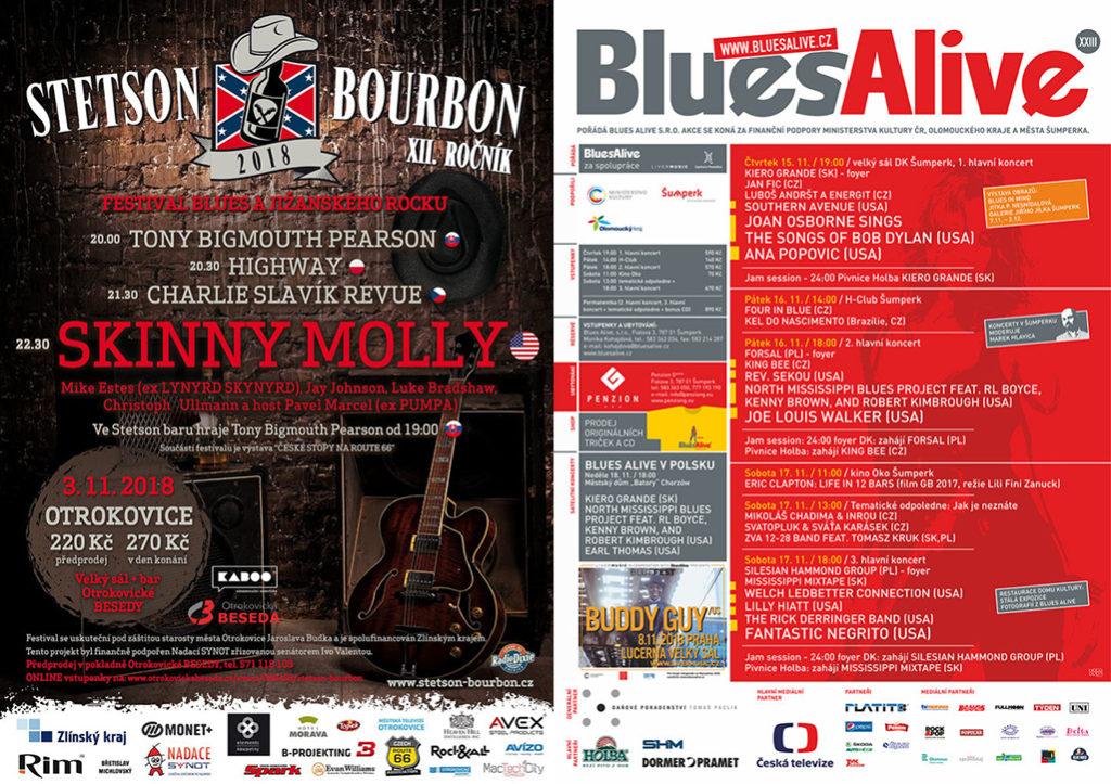 Novembrové bluesové festivaly 2018 na Slovensku a v Česku
