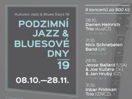 Podzimní jazz & bluesové dny 2018 Valašské Meziříčílues days 2019