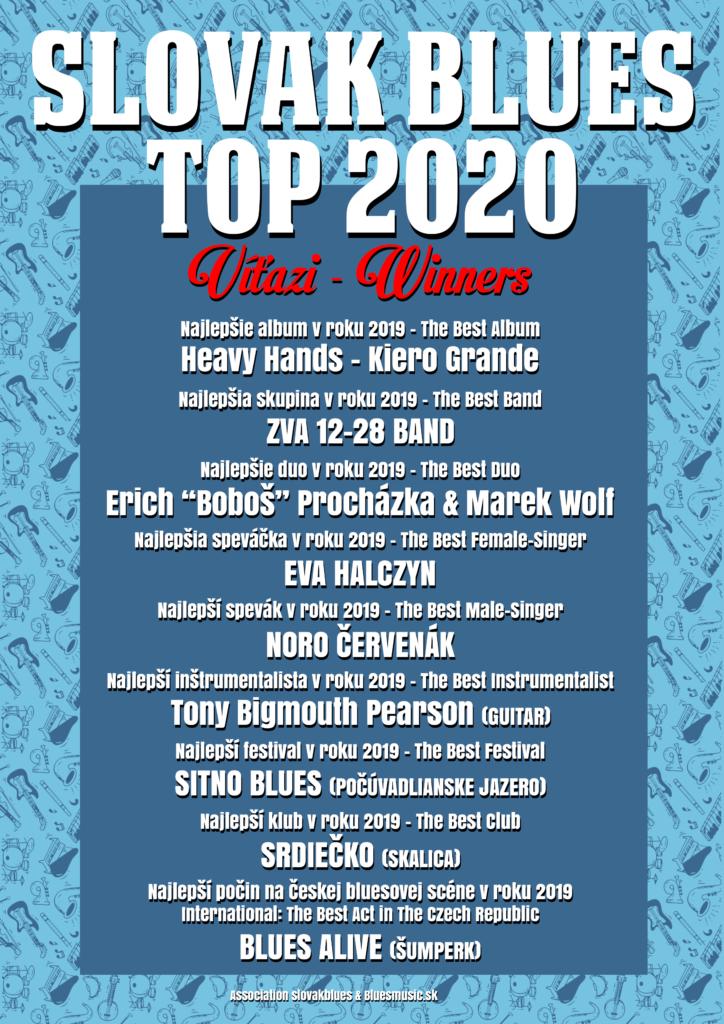 Slovak Blues Top 2020 Víťazi