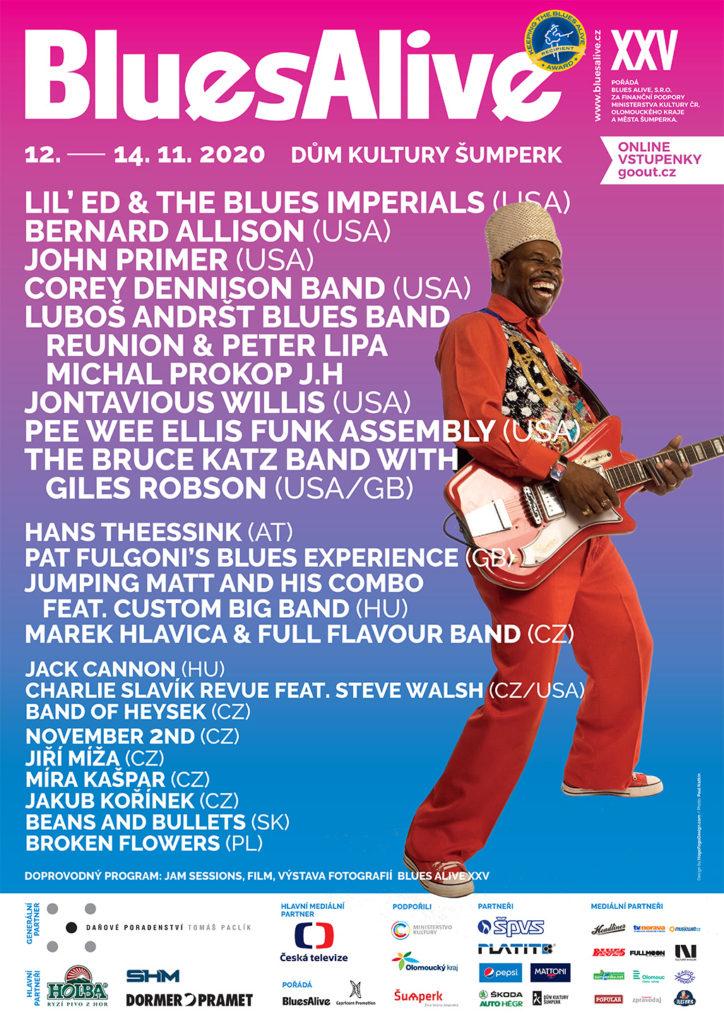 Pětadvacátý jubilejní ročník mezinárodního festivalu Blues Alive