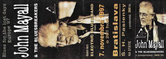 Spomienka na 7. november pred 23 rokmi! Na Slovensko zavítal John Mayall