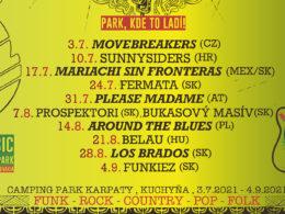 KOncerty Music in the Park v prírodnom prostredí Camping Parku Karpaty pri obci Kuchyňa