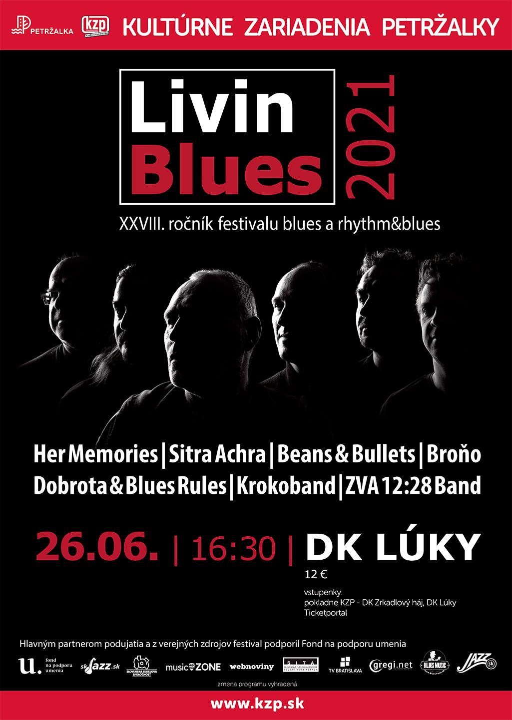 Festival Livin Blues 2021 DK Lúky Bratilava